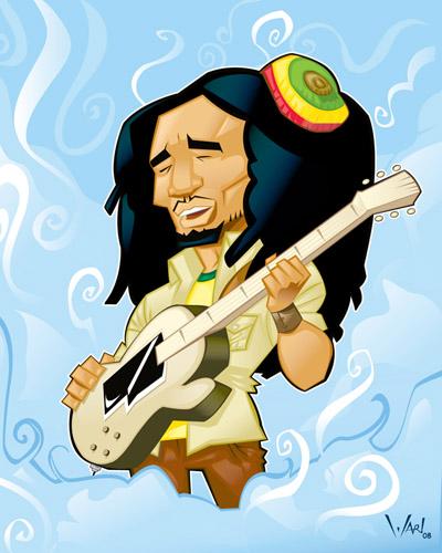 Cartoon Bob Marley